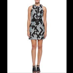 3.1 Phillip Lim Belted Geometric-Print Dress